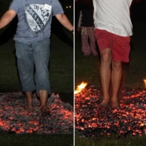 SHAMANIC HEALING FIREWALKING - Life purification with a fire element and possibility of firewalking