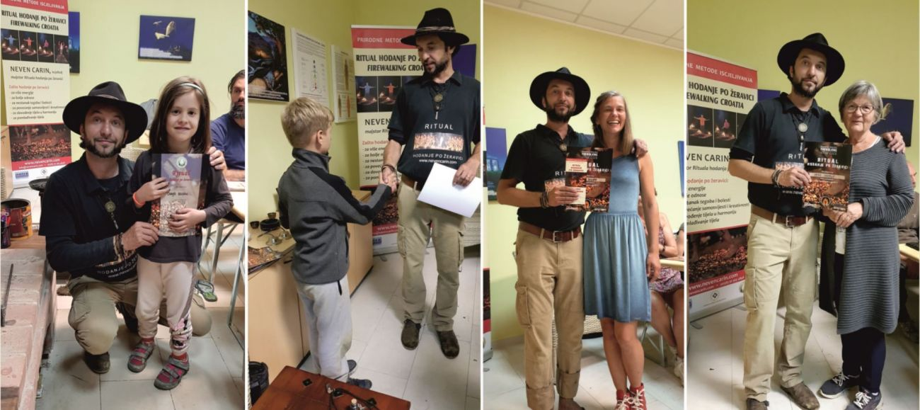 Podjela diploma vatra Neven Carin firewalking